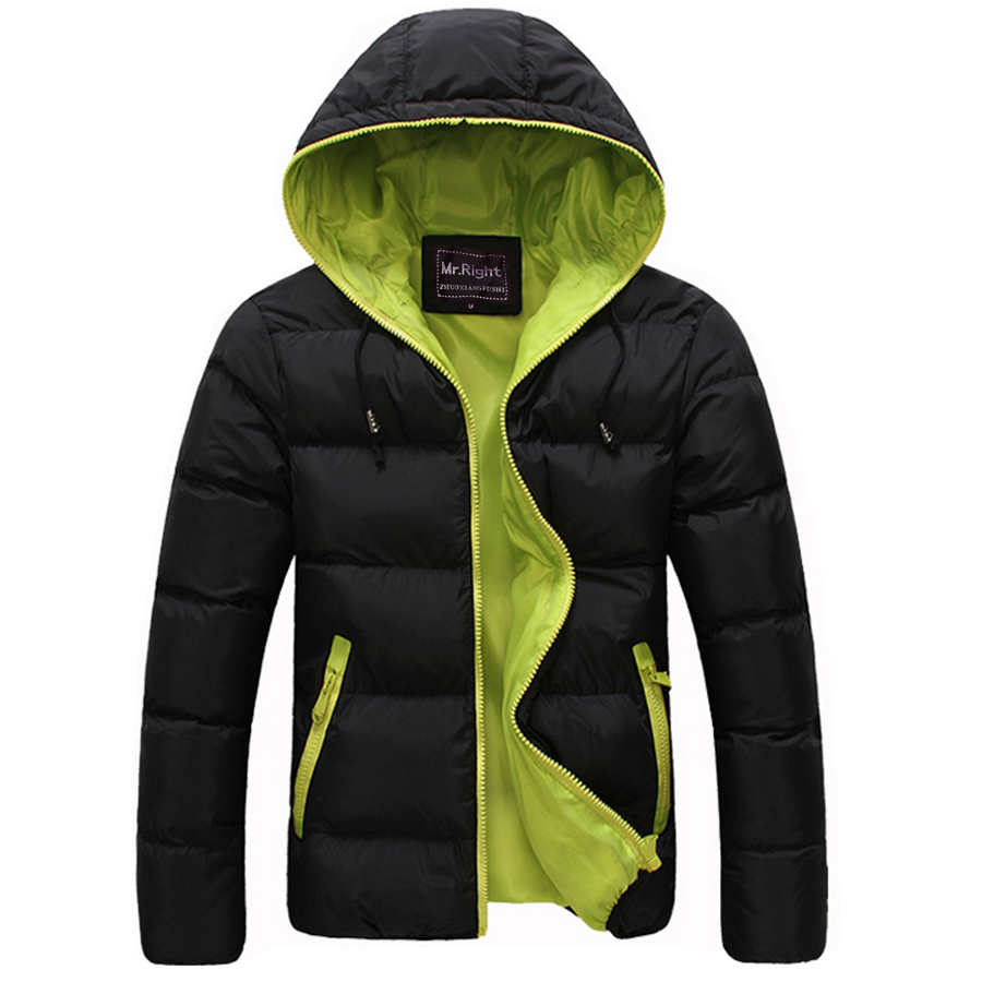 Winter Men Jacket 2017 New Brand High Quality Candy Color Warmth Mens Jackets And Coats Thick