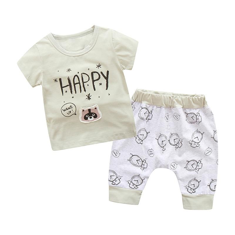 ae3dcf2ce6f5 Baby Boy Clothes 2PCS Suit Leisure Children Summer Toddler Boys Clothing set  2018 New Kids Fashion sport Sets