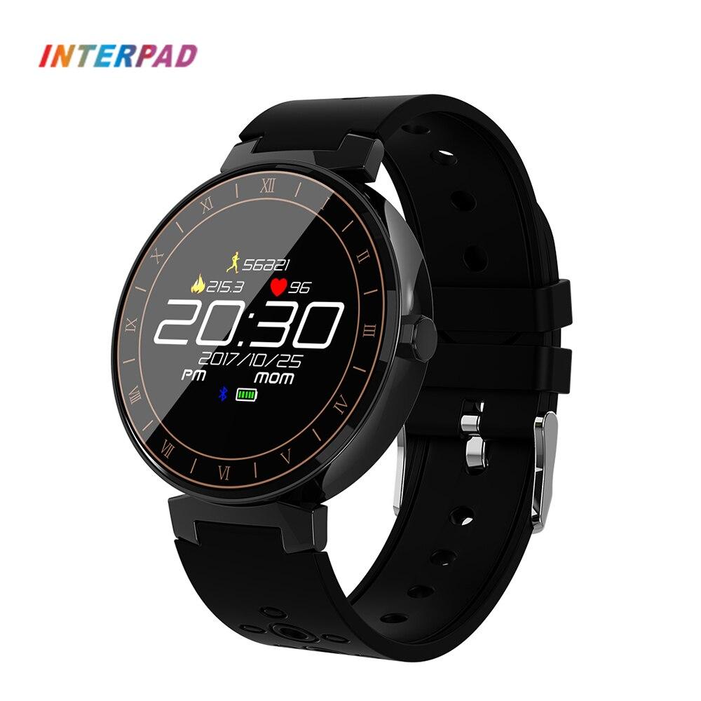 Interpad IP68 Smart Uhr Fitness Tracker Sport Smartwatch Pedometer Blutdruck Pulsmesser Armbanduhr Für Xiaomi