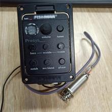 Fishman 4 диапазона высокого качества presy blend звукосниматель 301 Акустическая гитара Предварительный усилитель звукоснимателя Эквалайзер Тюнер с микрофоном
