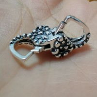 Heart shape Authentic 925 Sterling Silver Lobster Clasp Charms Fit European Brand Bracelet DIY Jewelry Making free shipping