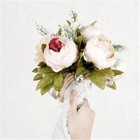 Christmas Gift Wedding Bridal Bouquet Ramo De Novia Bouquet Bride Bridesmaid Flowers Lace Sash Bouquet Mariage