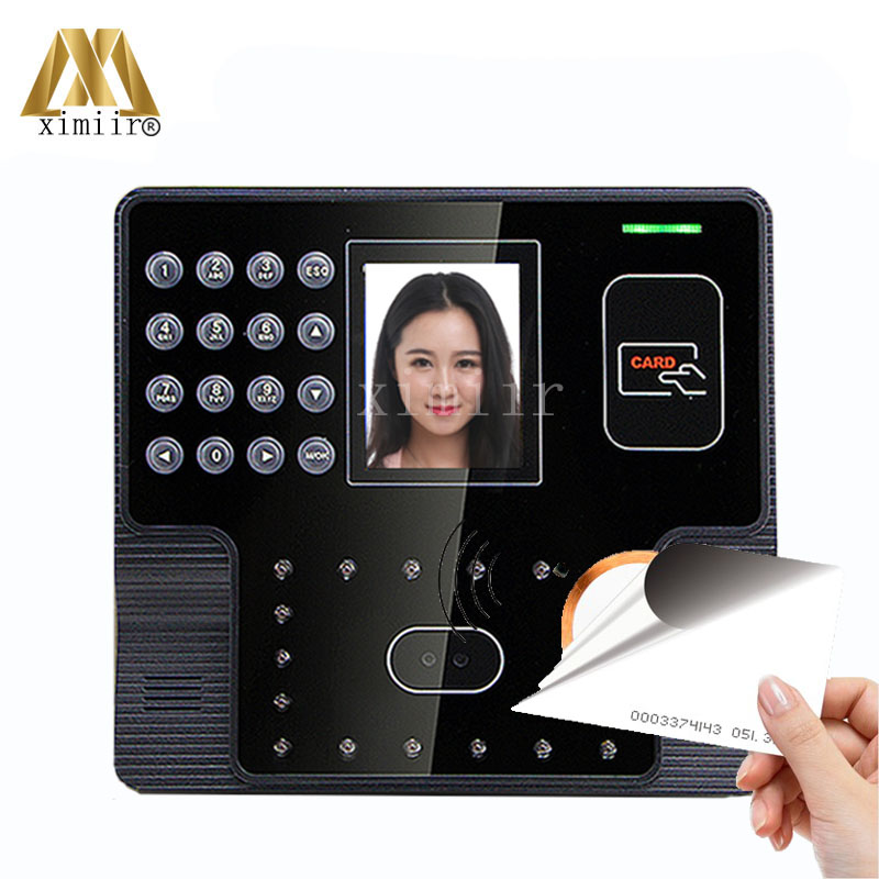 Free Shipping Facial Time Attendance And Access Control With RFID EM Card Reader ZK Iface101 Biometric Time Recording Time Clock
