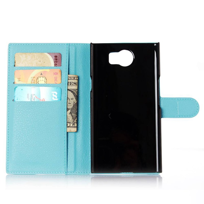 Luxury Wallet Credit Card Book Style Flip Stand Leather Case Back Cover for BlackBerry Priv leather case(China)