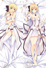 Fate/stay night Saber Hugging Body Pillow Case Japanese Anime Pillow Cover Arturia Pendragon Saber Body Pillowcase Dakimakura japanese anime yukimi hugging pillow cover case pillowcase decorative pillows 2way 50 160cm