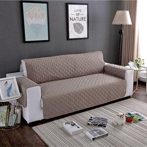 Image 1 - Wodoodporna narzuta na sofę wymienny Pet Dog Kid Mat fotel pokrowiec na meble zmywalny podłokietnik poszewki na kanapę pokrowce 1/2/3 Seat