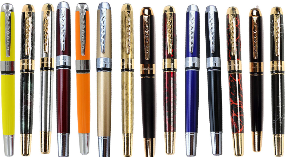 Set of 536 pcs Fountain pens + 700 Exrta Calligraphy Curved Nibs JINHAO 250 ink pens Free Shipping