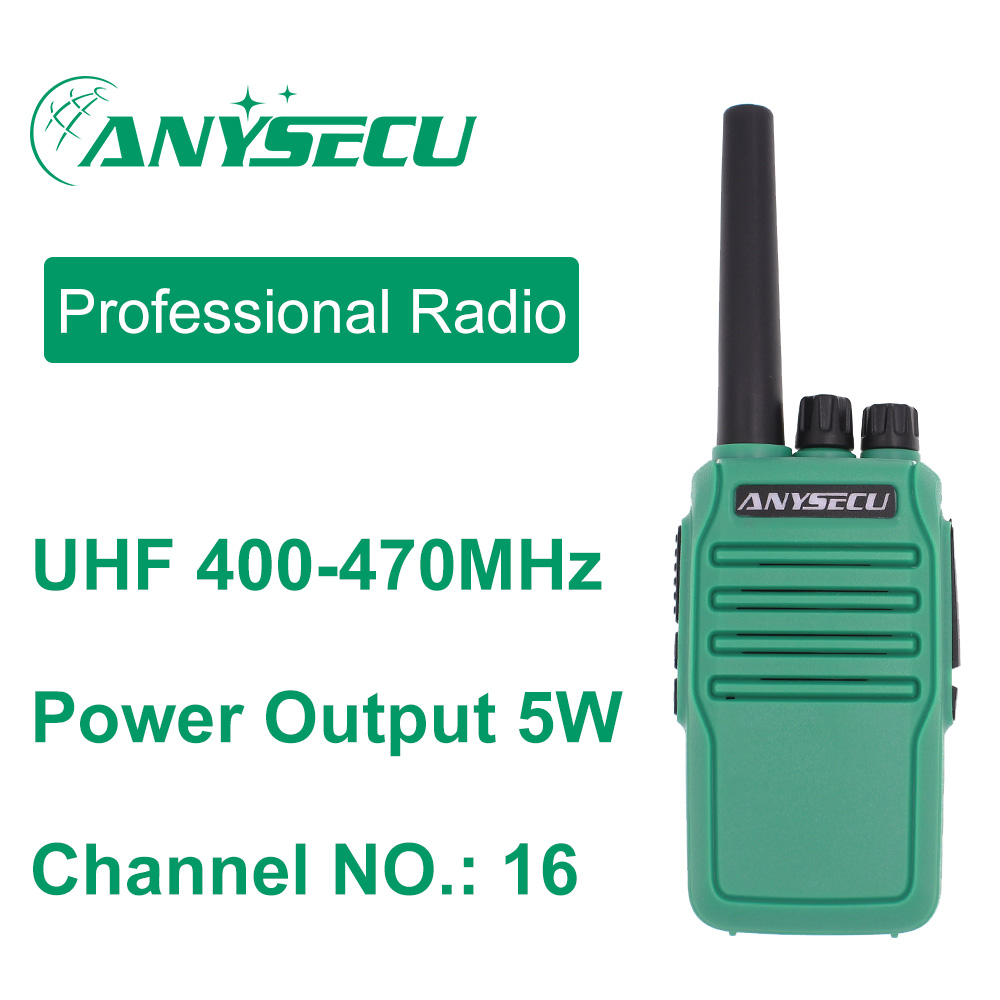 Anysecu Green S-338 Portable Radio UHF400-470MHz 5W Transceiver Handheld Walkie Talkie With Scrambler Function