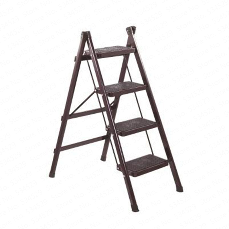 Folding Step Ladder Stool Three-step Thickened Iron Pipe Indoor Ladder Three-step Ladder Kitchen Ladder