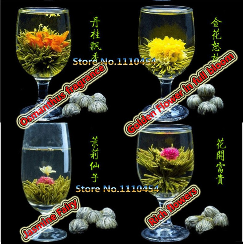 16 Kinds of Handmade Blooming Flower Tea Chinese Ball Blooming Flower Herbal tea Artificial Flower Tea Health Care Products 130g