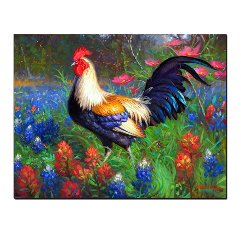 Diy Diamond Painting Cock Crow In The Morn Full Diamond Embroidery Beautiful Animal Decorated Living Room A Good Gift For Family