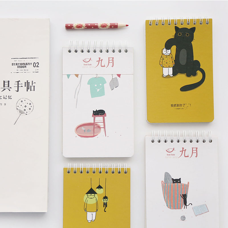 1PC New A7 Size Creative Coil Notebooks Student School Stationery Lovely Horizontal Line Blank Portable Notepad1PC New A7 Size Creative Coil Notebooks Student School Stationery Lovely Horizontal Line Blank Portable Notepad