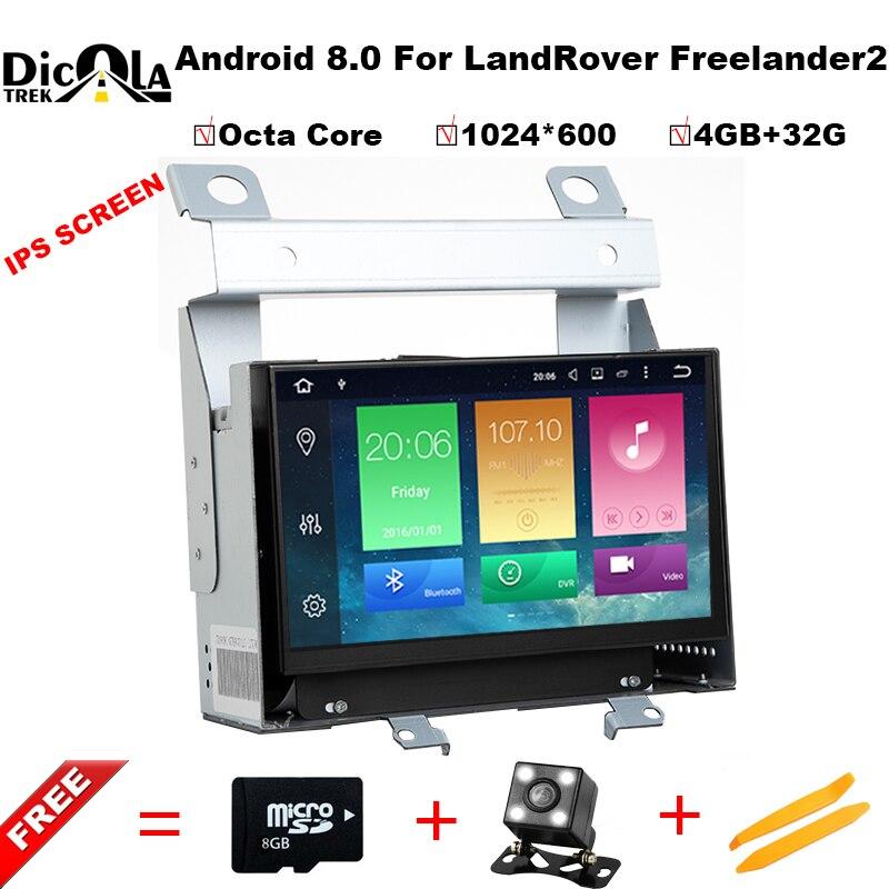 Octa core Android 8,0 dvd-плеер автомобиля для Land Rover freelander 2 2012-2007 с Wi-Fi DVR gps навигация 4G RAM 32 ГБ USB ROM DAB +