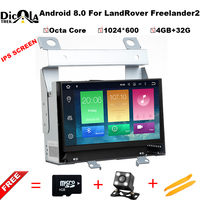Octa core Android 8,0 dvd плеер автомобиля для Land Rover freelander 2 2012 2007 с Wi Fi DVR gps навигация 4G RAM 32 ГБ USB ROM DAB +