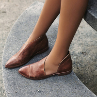 Women Flats 2018 Genuine Leather Shoes Women Slip On Round Toe Loafer Ladies Casual Shoes Comfortable