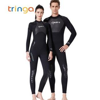 New Wetsuit for Men Women 3mm Neoprene+Sharkskin Patchwork Wet Suit Diving Scuba Snorkeling Surfing Swimsuit Full Bodysuit
