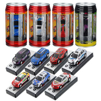 Mini Coke Can Speed RC Radio Remote Control Micro Race Multicolor