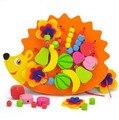 The hedgehog cordón moldeado cadena de placa de roscado juguetes del bebé educación temprana juguetes de Niños