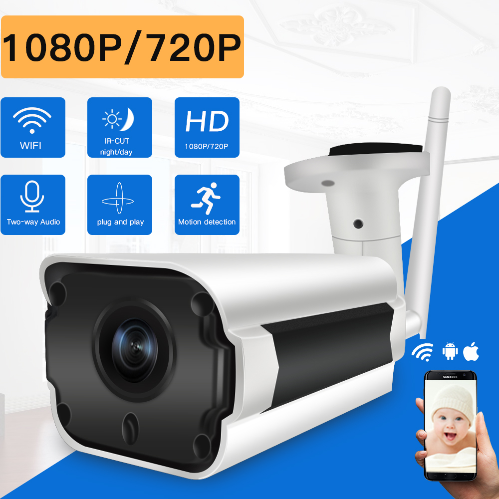 SDETER 1080P 720P IP Camera Wifi font b Wireless b font CCTV Bullet Outdoor Waterproof Night