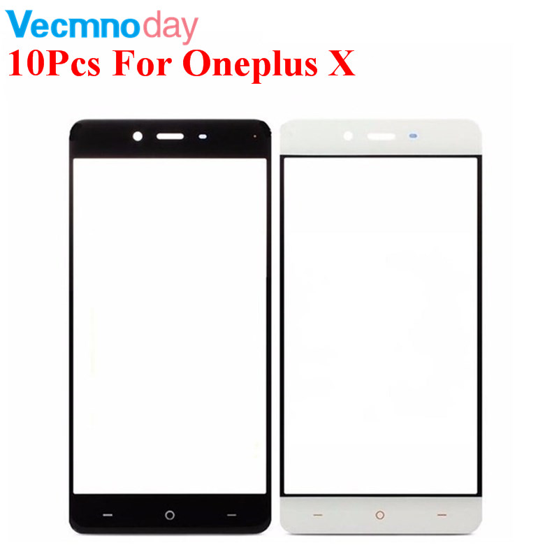 Vecmnoday 10Pcs/lot For OneplusX Glass Front Outer Lens Touch Screen For Oneplus X Phone Parts Replacement Free shipping