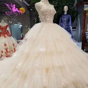 Image 4 - Платье с длинным шлейфом AIJINGYU, винтажное платье в стиле бохо, кружевное свадебное платье для невесты, индийское длинное платье с открытой спиной, античные свадебные платья