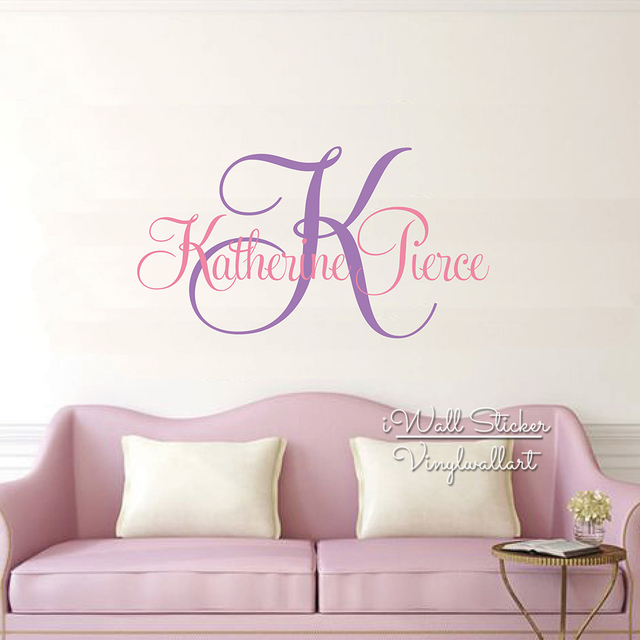 2cdc0d4ec273 Name Wall Sticker Custom Name Monogram Wall Decal Personalized Name Wall  Decor Kids Room Children Name