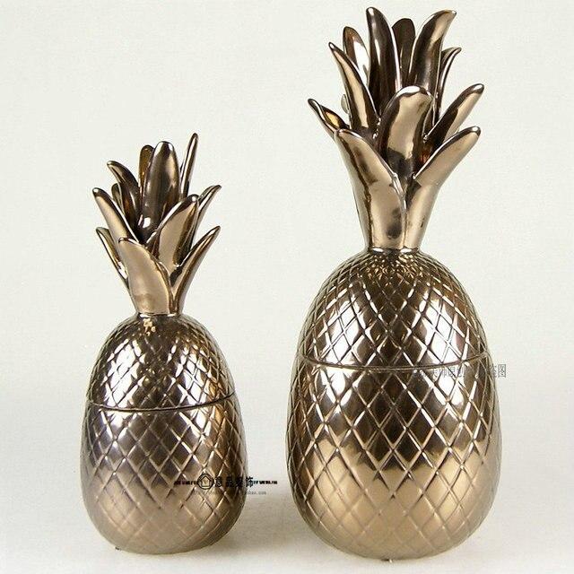 pineapple complex bronze decorative ceramic pots model house