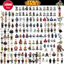Single Sale Chewbacca Star Wars Building Block HanSolo Anakin Darth Vader Yoda Jar Jar Toys Compatible legoINGl starwars figures