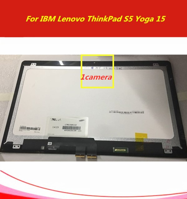 "ForLenovo ThinkPad S5 Yoga 15 Ultrabook New 15.6"" Touch Panel Glass Digitizer + LCD Screen Display Assembly"