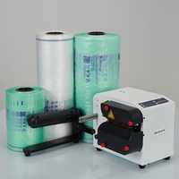 220V Buffer Air Pillow Machine 180W Bubble Film Machine Continuous Inflatable Bag Air Column Machine incl. 1x Roll film MA 400