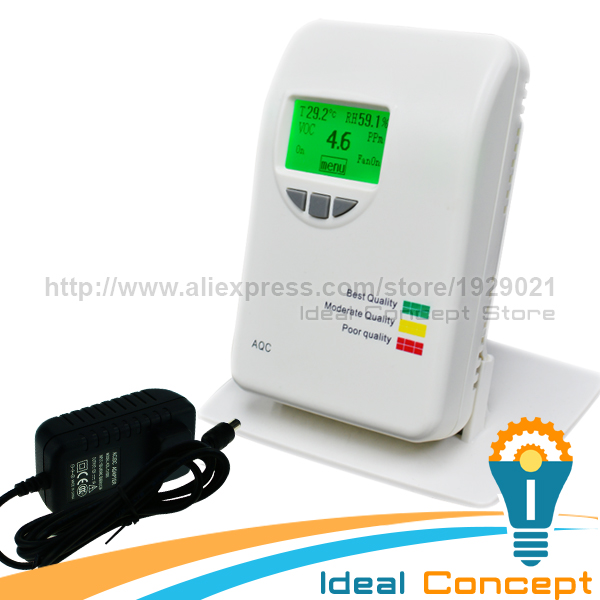 Wallmount VOC Meter Temperature and Humidity Indicator Color Coded Meter 0~50ppm Range Japan Sensor 1pcs temperature and humidity voc tvoc co2 formaldehyde 5in1 detection sensor