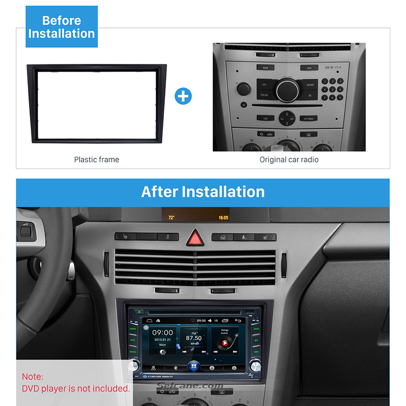 Image 5 - Seicane 2 Din Car Radio Fascia Trim Kit for 2006+ Opel Vectra Astra Zafira Stereo Dash CD Frame Panel Audio Cover Fitting Kit-in Fascias from Automobiles & Motorcycles