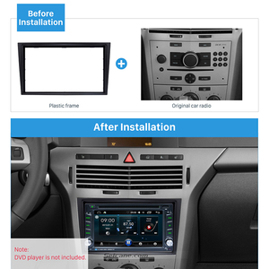 Image 5 - Seicane 2 din car radio fascia 트림 키트 2006 + opel vectra astra zafira 스테레오 대시 cd 프레임 패널 오디오 커버 피팅 키트