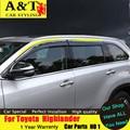 Estilo del coche Para Toyota Highlander Highlander 2015 ropa de lluvia protector de La Lluvia barómetro coche tira de Decoración de Ventana decorativa