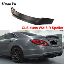 цена на W218 R style Carbon Fiber Trunk Spoiler for Mercedes-benz CLS Class 2011-2016 Gloss Duck Rear Wings CLS500 CLS550