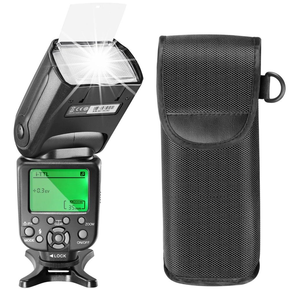 ФОТО  Neewer 2.4G Wireless HSS i-TTL LCD Display Master Slave Flash Speedlite for Nikon D7200 D7100 D7000 D5200 D5100 D5000 D3000