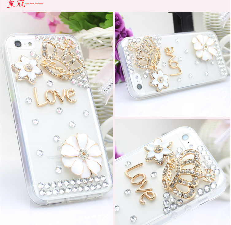 For Huawei P7 case rhinestone mobile phone cases Transparent case protective cover colorful glossy case 5