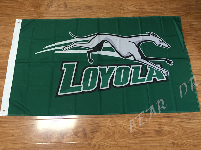 3x5ft Loyola Greyhounds flag competitions and decorative 90x150cm100D polyester Free Shipping