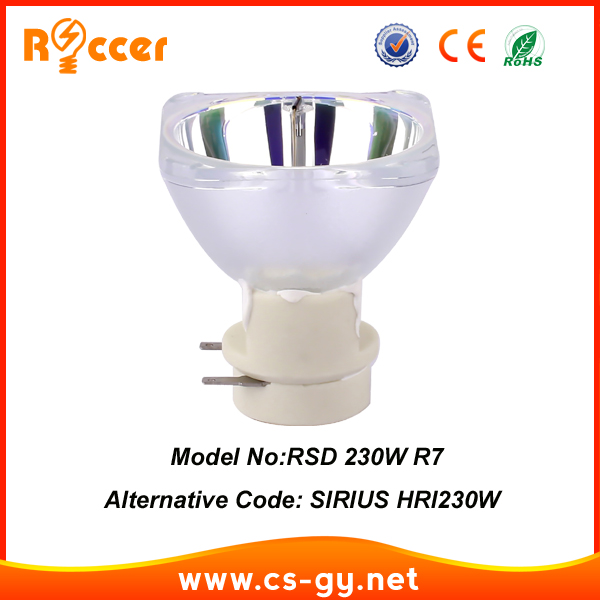 Roccer GENERAL SIRIUS HRI 230W moving beam 230 75% of ORIGINAL 7R 230W LAMP roccer general 15r 300w compatible with sirius hri 300w e21 8 for sharpy beam 300