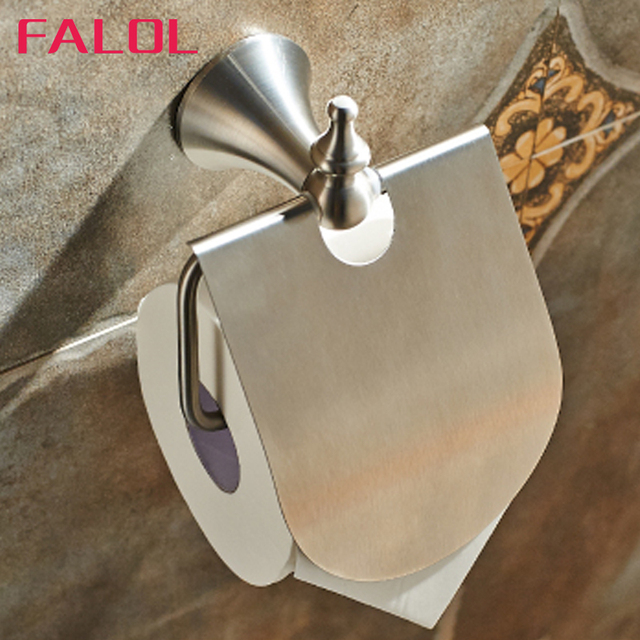 Hotel Bathroom Accessories aliexpress : buy s.steel nickle toilet paper holders wall