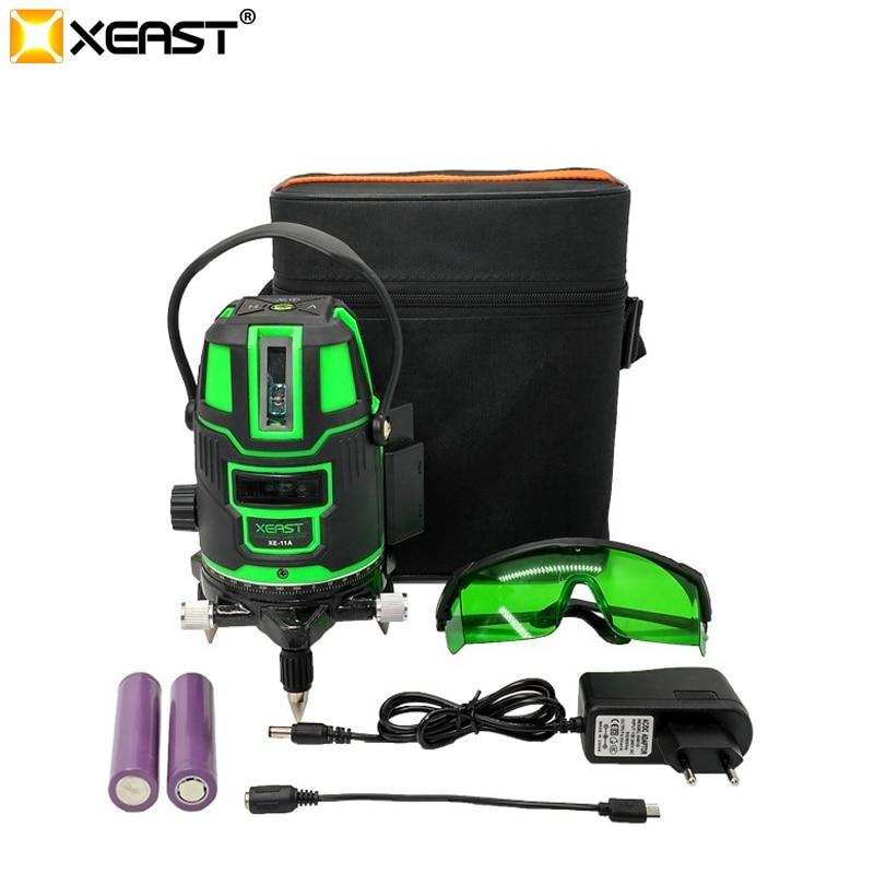 XEAST XE-11A 5 linie Günstige China Kreuz Bau 360 Grad Laser Nivellierung Werkzeug outdoor laser ebene