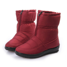 Snow Boots 2016 Winter Brand Warm Non-slip Waterproof Women Boots Mother Shoes Casual Cotton Winter Autumn Boots Female Shoes