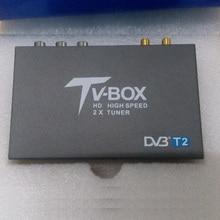 2 Antenna HD Car DVB T2 T338B High Speed H.264 (MPEG4) DVB-T2 TV Receiver, 120km/h HD USB Mobile Digital TV Box