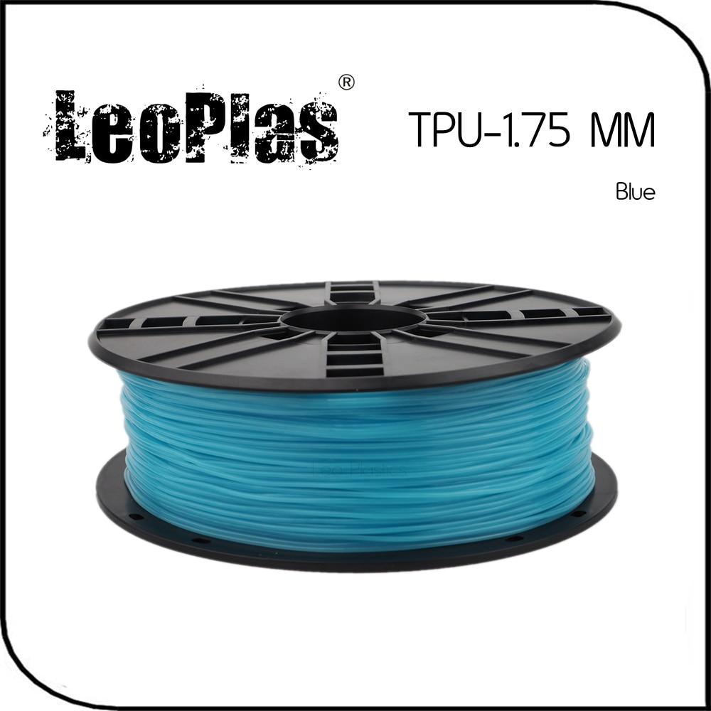 Worldwide Fast Delivery Manufacturer 3D Printer Material 1kg 2 2lb Soft Rubber 1 75mm Flexible Blue