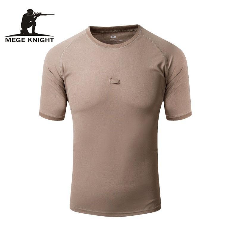 7f7cad18319 Бренд Mege одежда Тактическая Военная Мужская рубашка дропшиппинг дышащая  быстросохнущая камуфляж Coolmax плюс размер 5XL футболка