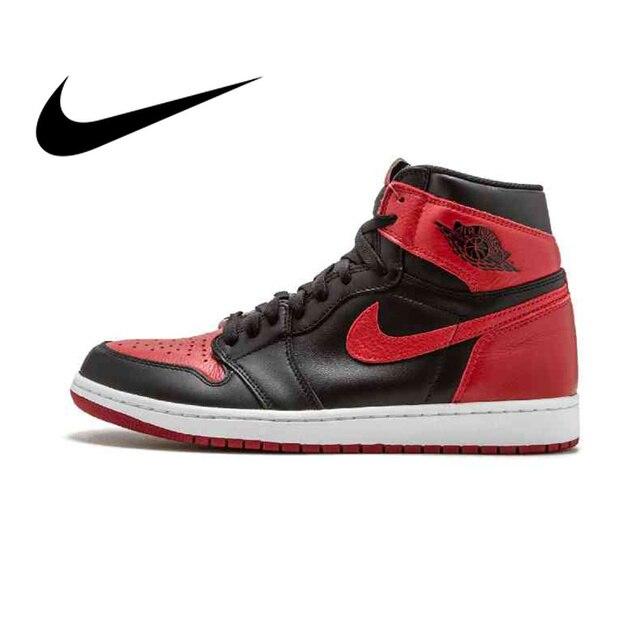 39b5718c5b72 Original Authentic Nike Air Jordan 1 Retro High OG AJ1 Men s Basketball  Shoes Sneakers Athletic Designer 2018 New 555088-001