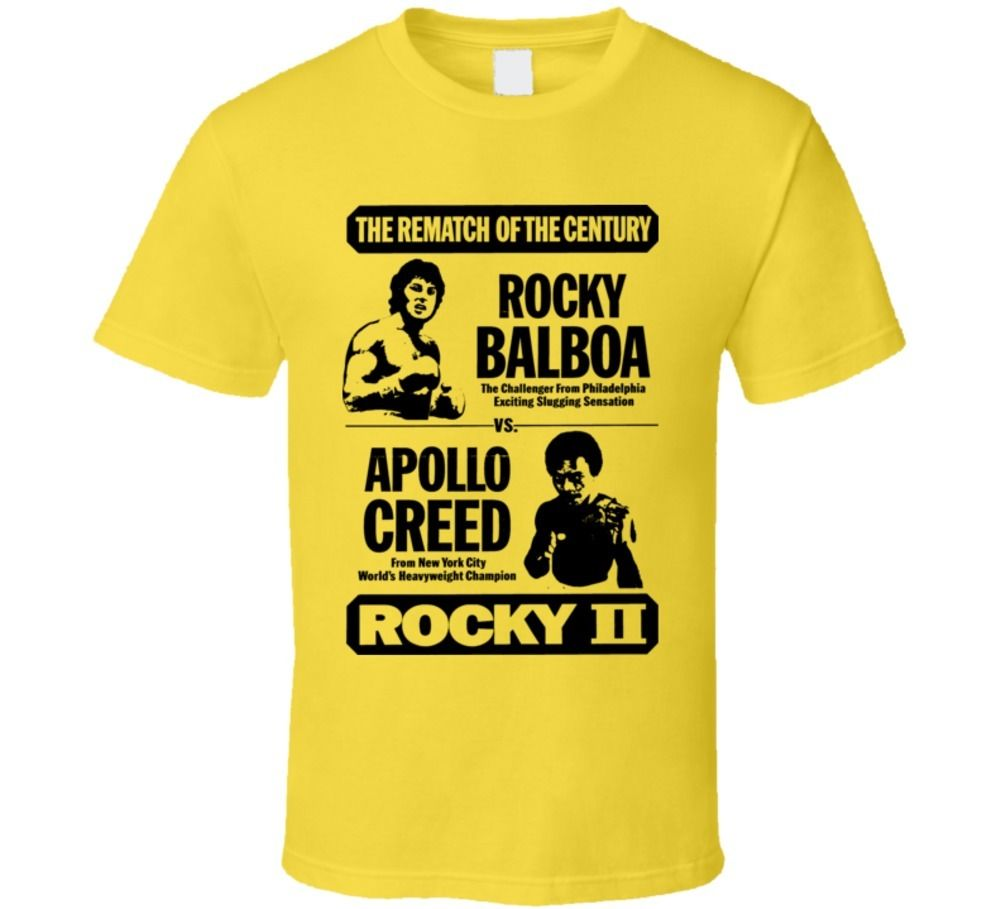 Rocky II Apollo Creed Boxing Movie T Shirt T shirt Cool Casual pride t shirt men Unisex New Fashion tshirt free shipping image