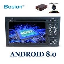 2 דין אנדרואיד 8.0 רכב DVD GPS Navi עבור אאודי A4 GPS (2003-2008) אאודי S4/RS4/8E/8F/B9/B7 עם Wifi Bluetooth רדיו RDS Canbus מפה