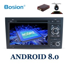 2 din android 8.0 Car DVD GPS Navi for Audi A4 GPS (2003-2008) Audi S4/RS4/8E/8F/B9/B7 With Wifi Bluetooth Radio RDS Canbus Map