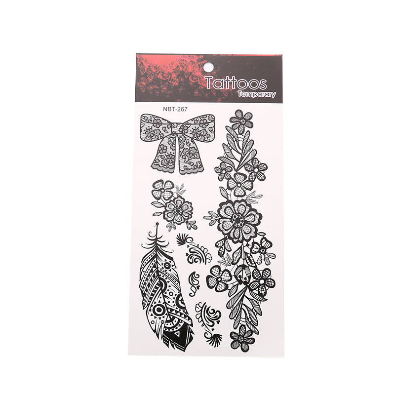 Art Waterproof Tattoo Sticker Unisex Logo Flower Arm Exquisite Beautiful Plant